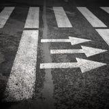 дорога пешехода маркировки скрещивания Стоковые Изображения RF