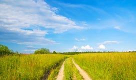 дорога поля Стоковые Изображения RF