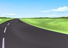 дорога поля иллюстрация штока