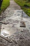 Дорога после дождя Стоковое Изображение