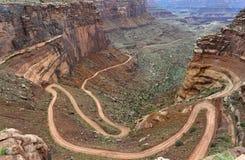 Дорога поташа, остров в небе, Canyonlands, Юта Стоковые Изображения RF