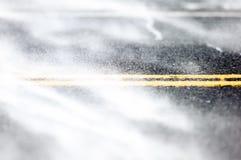 Дорога под снежком Стоковые Фото