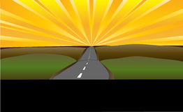 дорога предпосылки будущая к Бесплатная Иллюстрация