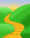 дорога предпосылки солнечная Стоковое Фото