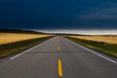 Дорога прерии стоковые фотографии rf