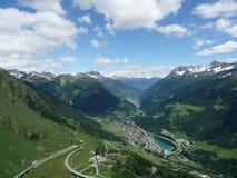 Дорога пропуска Gotthard, Тичино, Швейцария стоковая фотография rf