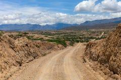 Дорога пустыни: Грубый путь грязи стоковые изображения rf
