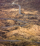 Дорога пустыни замотки стоковая фотография