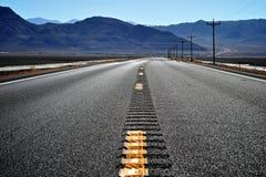Дорога пустыни Невады стоковое фото rf