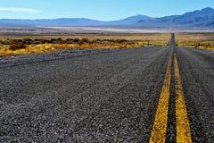 Дорога пустыни Невады стоковые фотографии rf