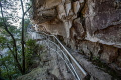 Дорога планки Хунани Zhangjiajie национальная Forest Park Yangjiajie Wulongzhai Стоковые Фотографии RF