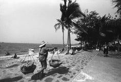 Дорога пляжа Паттайя стоковая фотография rf