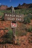 дорога ранчо Стоковая Фотография