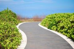 Дорога сада на зоне Бали Dua Nusa Стоковые Изображения RF
