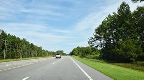 Дорога Северной Каролины США местная Стоковые Изображения