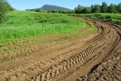 дорога сельская Стоковая Фотография RF
