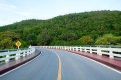 дорога сельской местности пустая Стоковые Изображения