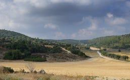 Дорога сельской местности около Иерусалима Стоковые Фото