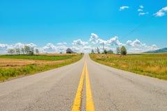Дорога сельской местности Стоковые Фотографии RF