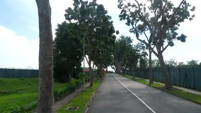 Дорога Сингапура от автобуса видеоматериал