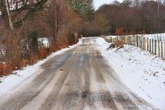 дорога скользкая Стоковая Фотография
