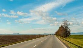 Дорога Словакии Стоковое Изображение RF