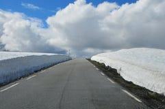 Дорога снега Стоковые Изображения