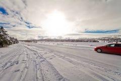 дорога снежная Стоковое Изображение RF