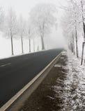 дорога снежная Стоковое фото RF