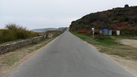 Дорога соболей Grands в Красавиц-ÃŽle-en-Mer Франции стоковая фотография rf