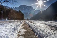 Дорога Солнця Стоковая Фотография RF