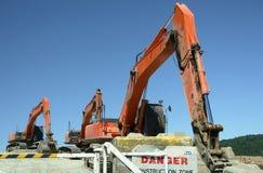 дорога строительного оборудования стоковое изображение rf