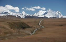дорога сценарный Тибет Стоковая Фотография