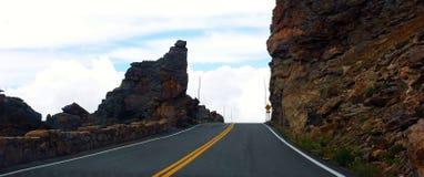 Дорога США положения Колорадо скалистой горы Стоковая Фотография