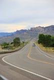 Дорога США с горным видом Стоковые Фото