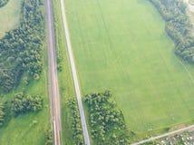 Дорога съемки трутня вертолета стоковые изображения