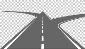 Дорога с белыми маркировками бесплатная иллюстрация