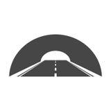 Дорога с значком тоннеля иллюстрация вектора