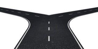 Дорога с 2 путями иллюстрация штока