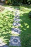 Дорога с цветками Стоковое Фото