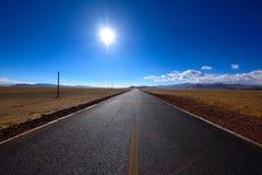 Дорога Тибета красивая Стоковые Изображения