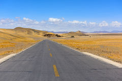 Дорога Тибета красивая Стоковое Изображение