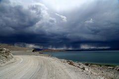 дорога Тибет к Стоковые Фото