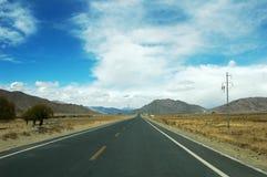 дорога Тибет Стоковое фото RF