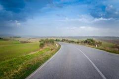 Дорога Тосканы Стоковое Изображение RF