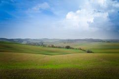 Дорога Тосканы Стоковая Фотография