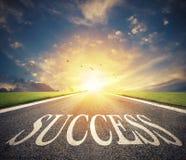 Дорога успеха Путь для новых возможностей для бизнеса стоковая фотография rf