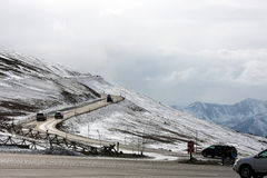 Дорога утесистых гор Колорадо Стоковое Фото