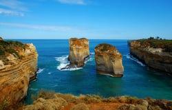 Дорога ущелья Lorch Ard, большая океана, Австралия. Стоковые Изображения RF