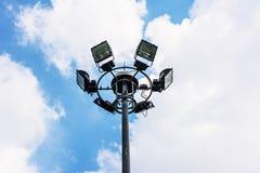 Дорога улицы столба лампы Стоковое Изображение